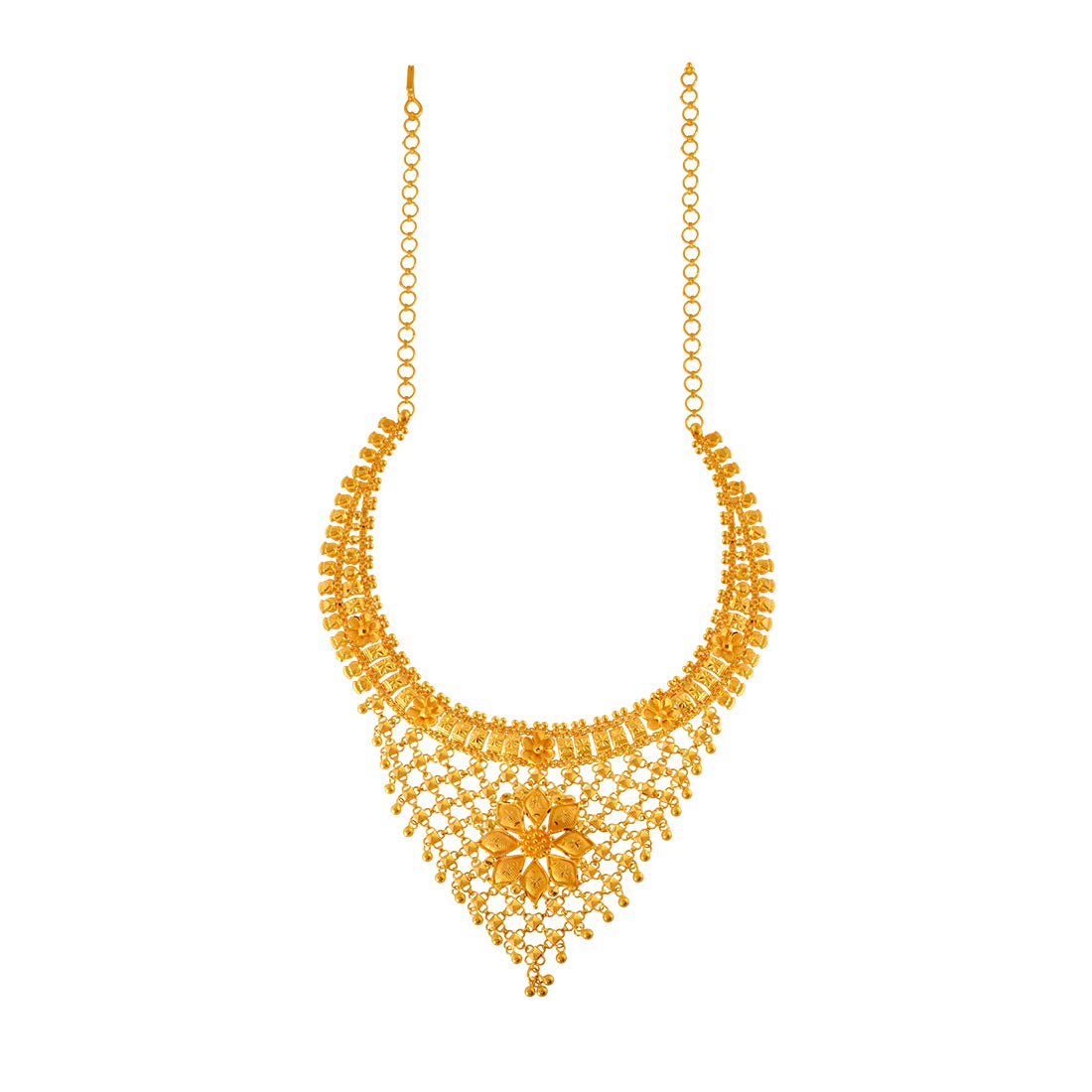 Buy P C Chandra Jewellers 22k 916 Yellow Gold Necklace For Women At Amazon In