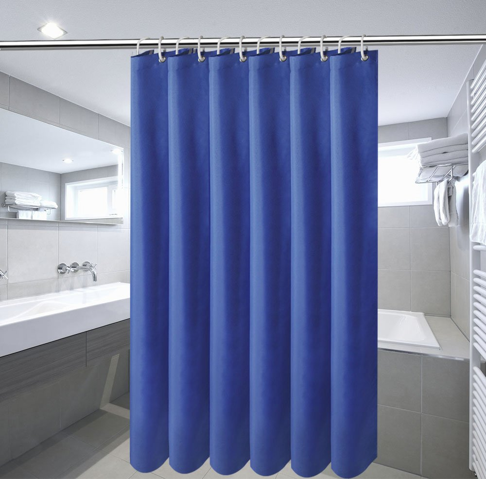 Amazon.com: 54-Inch x72-Inch Shower Curtains for Bathroom, Navy Blue ...