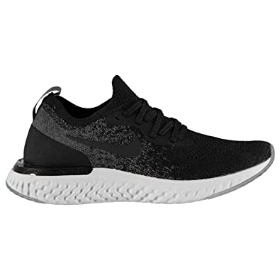 67f601ce52 Official Nike Epic React Flyknit Junior Boys Running Shoes Trainers Footwear  Black/Grey (UK4