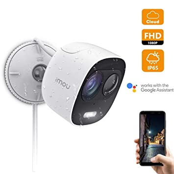Imou Cámara de Vigilancia Exterior 1080P, Cámara IP WiFi con LED, Cámara de Seguridad Impermeable para Exteriores con Visión Nocturna Detección de ...