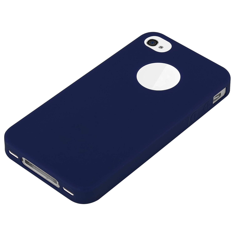 Cadorabo Funda para Apple iPhone 4 / iPhone 4S en Candy Azul Oscuro – Cubierta Proteccíon de Silicona TPU Delgada e Flexible con Antichoque – Gel Case ...