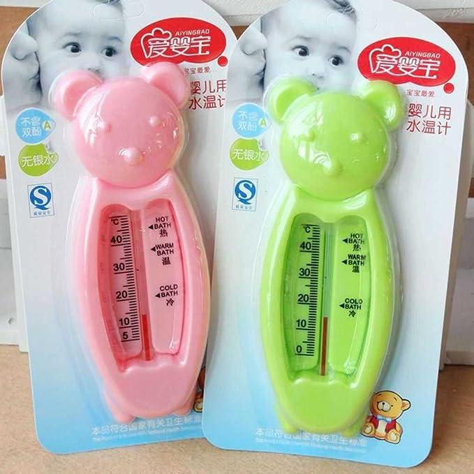 Fangfeen Temperatura del Agua Oso pequeño medidor Termómetro de baño para el recién Nacido Bath (Color al Azar)