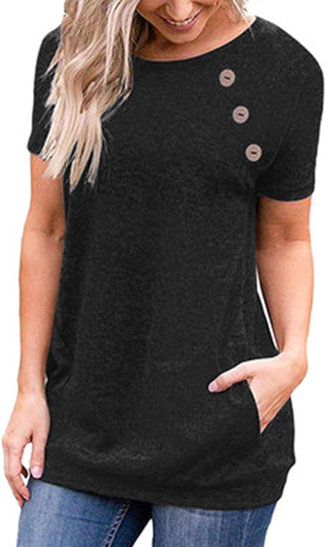 Women Solid Seven-quarter Sleeve Strap Top Loose Off Shoulder Knotted Shirt J