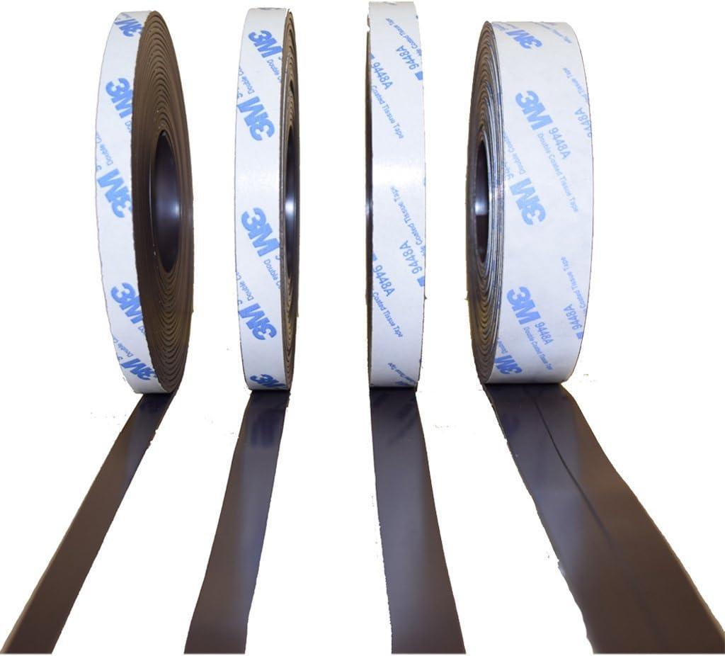Smagnon AUSWAHLANGEBOT Magnetband mit 3M Kleber/ücken selbstklebend 10-12,7-15 Typ B oder einzeln 25,4mm, Typ A + Typ B 25,4mm Typ A