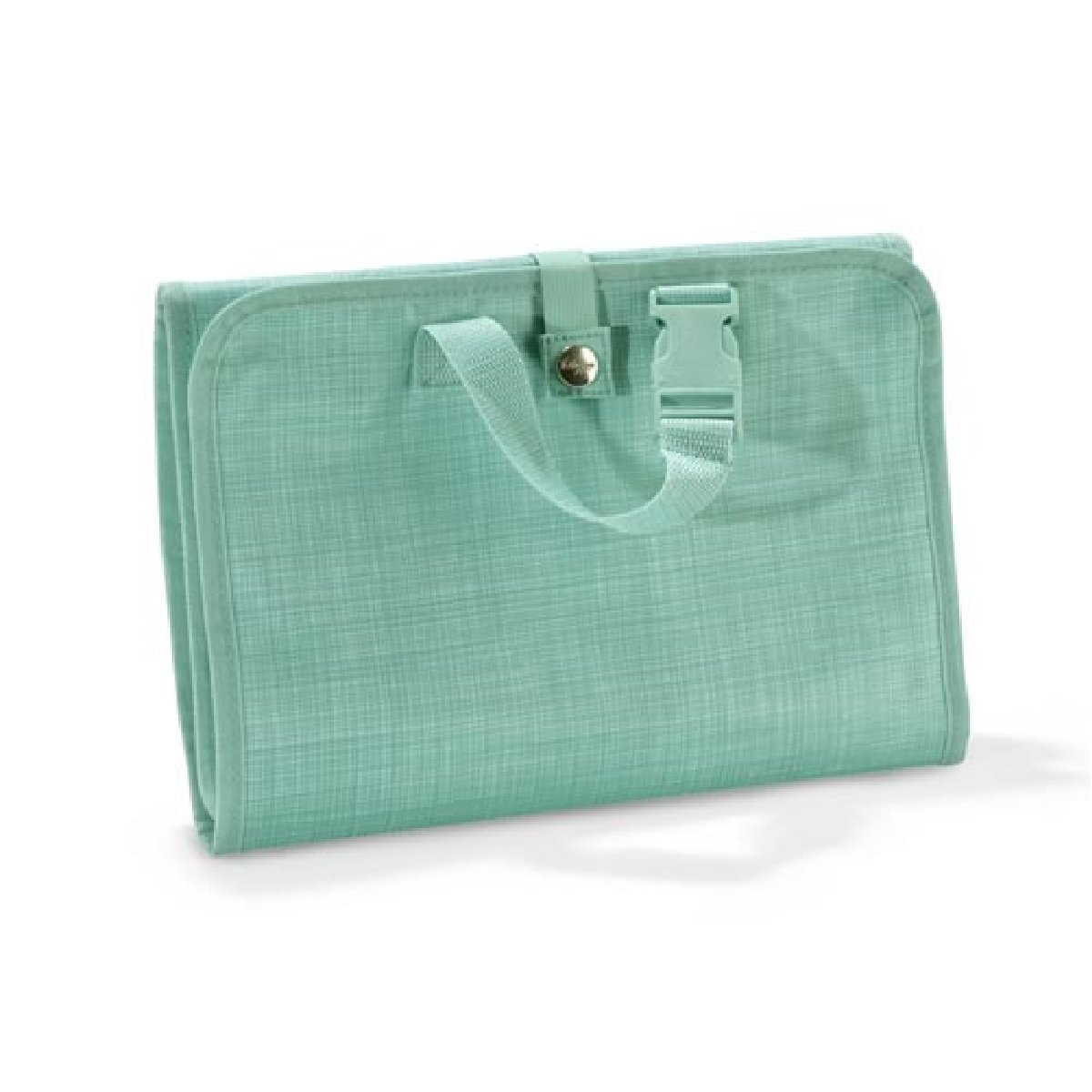 Thirty One Timeless Beauty Bag in Turquoise Cross Pop - No Monogram - 3849
