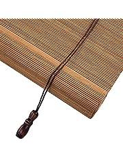 Van hoge kwaliteit Venster/Deur Outdoor Roll-up Blinds met Montage, Japans-stijl Bamboe Roller Schaduw voor Galerij Tea Room, 60cm / 80cm / 100cm / 120cm / 140cm breed Snelle installatie