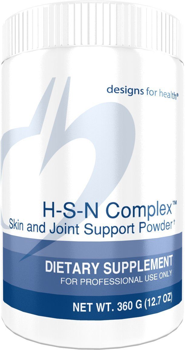 Designs for Health H-S-N Complex Powder - Collagen Peptides + 2500mcg Biotin for Skin & Joint Support (360g, 30 Servings)