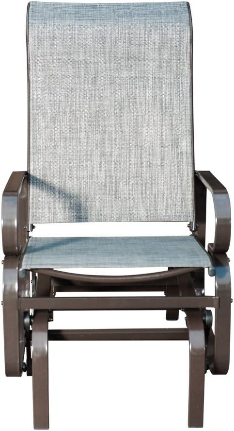 SLN Patio Gliders Sling Swing Chair Rocker with Heavy-Duty Frames, Grey