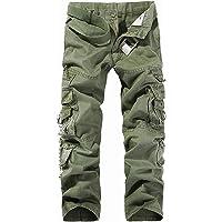 58d412631c iBaste Yardas grandes pantalones de algodón ocasional al aire libre  Pantalones militar para hombre