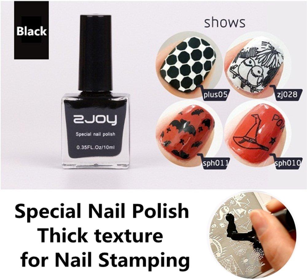 ZJOY Stamping Nail Polish 10ml Stamping Polish Nail Art, Lemon Yellow