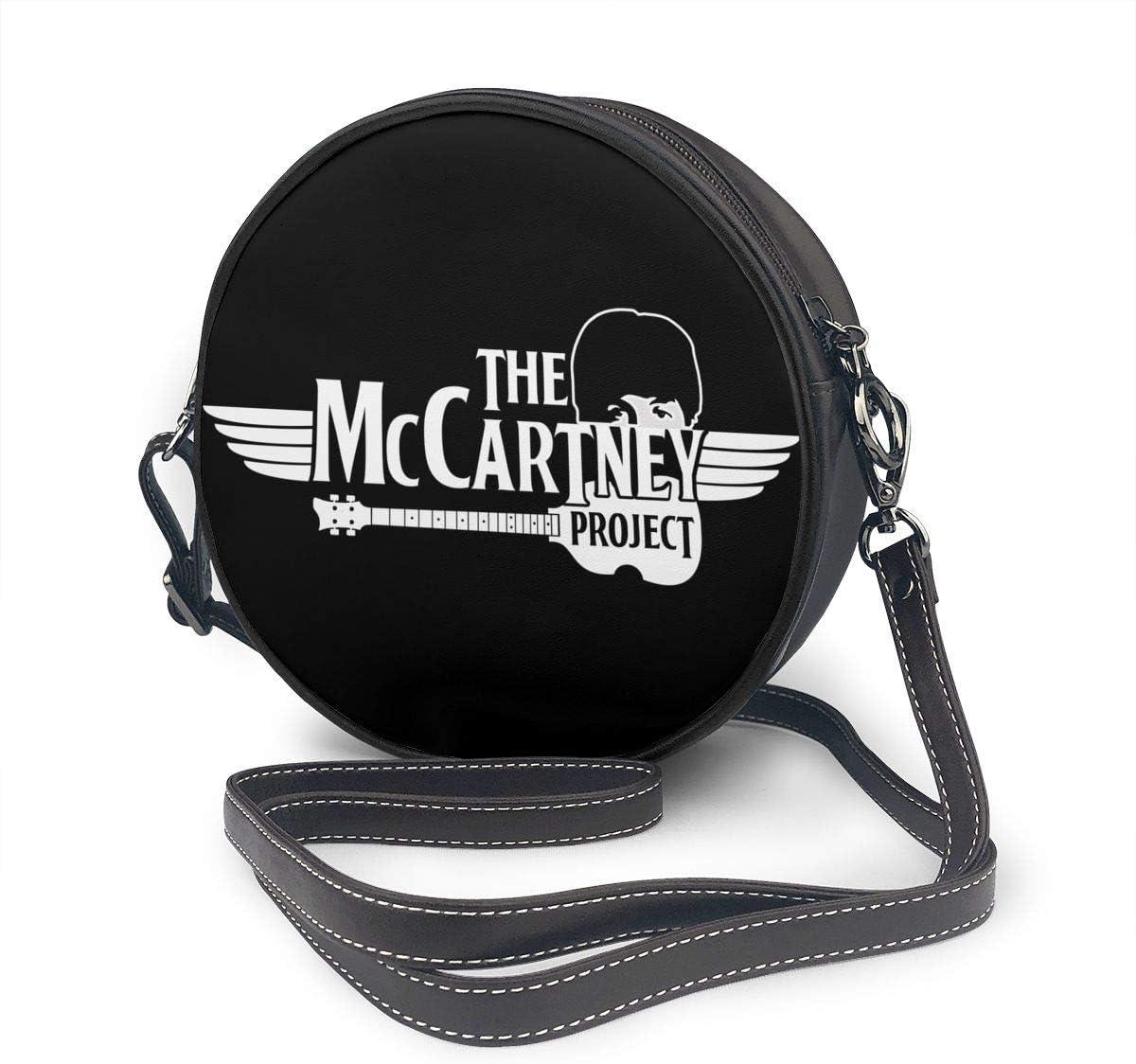 Liuerfeng Paul McCartney Leather Shoulder Round Bag