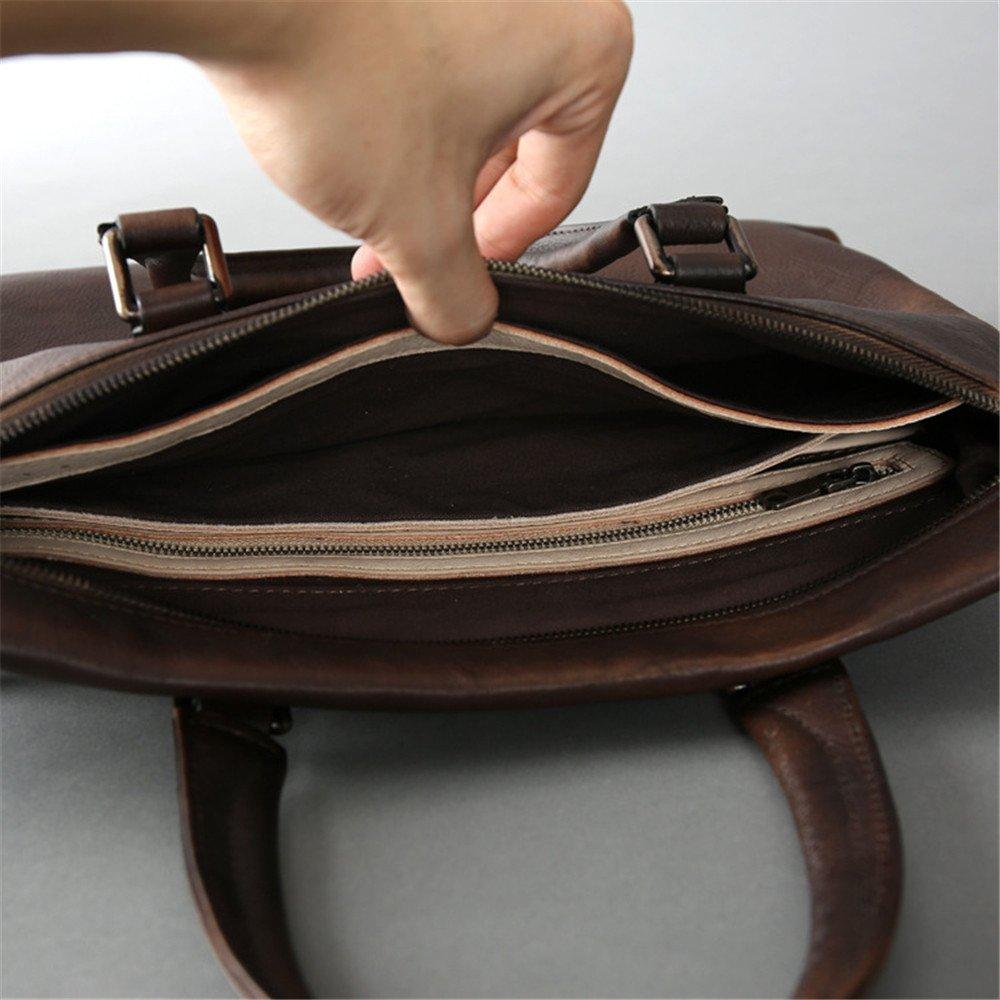 Otomoll Leder Neue Desigher Handgefertigte Leder Otomoll Aktentasche Tasche Retro Männliche Handtasche Schultertasche 350ae7