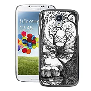 A-type Arte & diseño plástico duro Fundas Cover Cubre Hard Case Cover para Samsung Galaxy S4 (Painting Pencil Art Drawing White Forest)