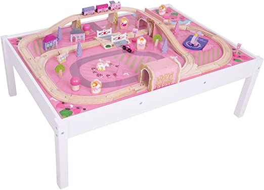 Bigjigs Rail Magical Wooden Train Set And Table 59 Play Piece Other Major Rail Brands Are Compatible