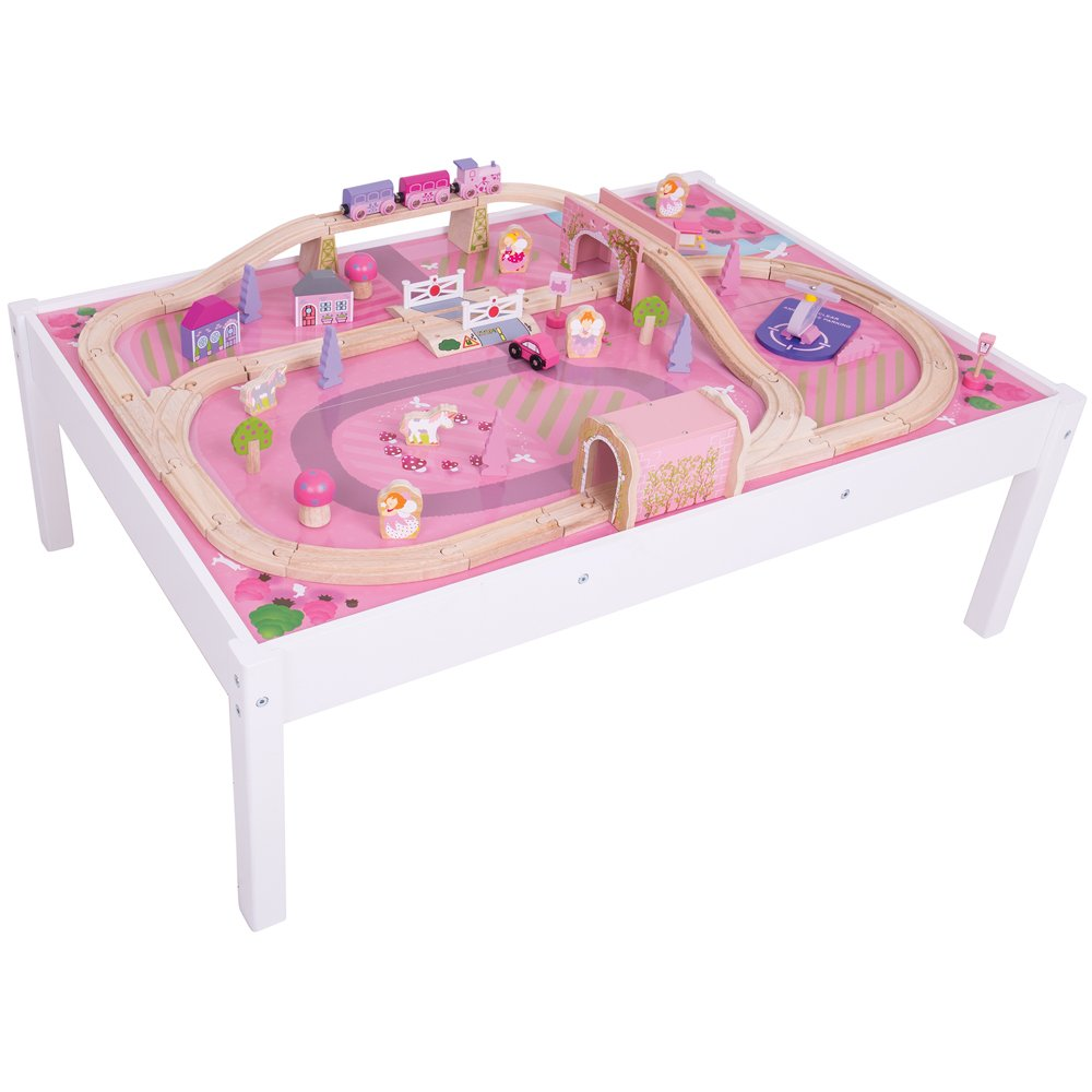Amazon.com Bigjigs Rail Magical Wooden Train Set and Table - 59 Play Piece - Other Major Rail Brands are Compatible Toys u0026 Games  sc 1 st  Amazon.com & Amazon.com: Bigjigs Rail Magical Wooden Train Set and Table - 59 ...
