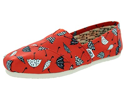 Toms Classic Red Canvas Umbrella Print 10006148 Womens 5