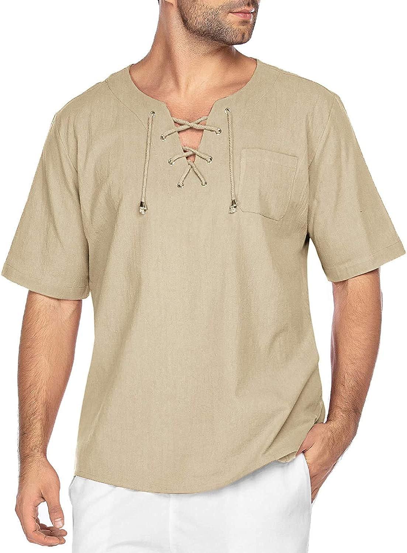 COOFANDY Camiseta para Hombre, Verano Algodón y Manga Corta Color sólido Moda Casual Suelto T-Shirt Camisas Camiseta Cuello en V Suave básica Camiseta: Amazon.es: Ropa y accesorios