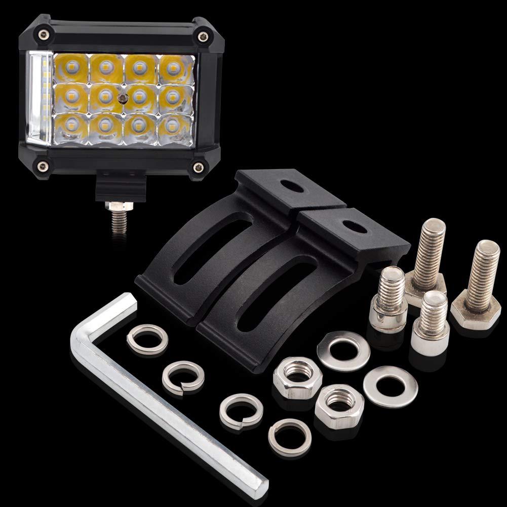 LncBoc LED Arbeitsscheinwerfer 3900lm 57W Cree LED Zusatzscheinwerfer 12V Auto Scheinwerfer Offroad Flutlicht Wasserdicht IP67 Arbeitslicht Wei/ß 2 St/ück