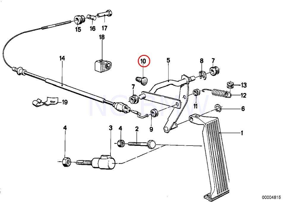 BMW Genuine E92 E90 F32 F36 X5 E53 Clutch Pedal Stop Buffer OEM 35311103849