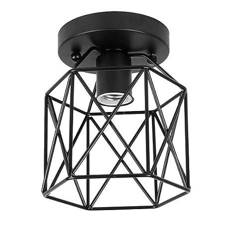 ZHMA Techo de Metal de Reequipamiento lámpara de techo, Industrial lámpara, Lámpara de Techo Colgante Mini de Estilo Vintage, (E27, solo pantalla, no ...