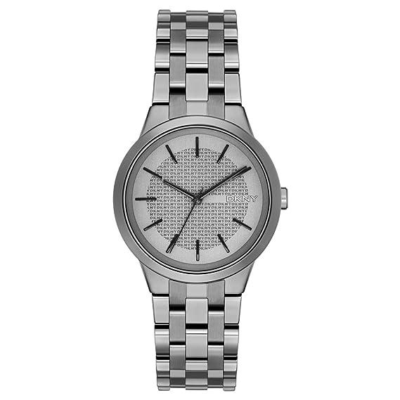 DKNY Reloj analogico para Mujer de Cuarzo con Correa en Acero Inoxidable NY2384