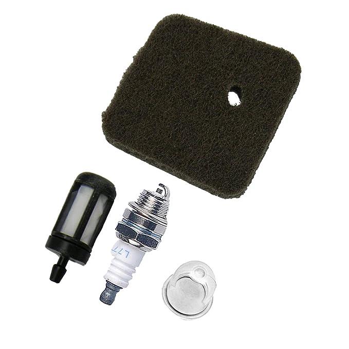 Mtsooning Luftfilter Kraftstofffilter Z/ündkerze f/ür Stihl FS38 FS45 FS46 FS55 HS45 FC55 Ersetzen 4140-124-2800