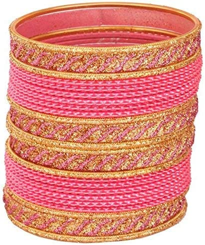 SHINE MILL 9 Color Fashionable /& Glossy Bangle Set with Unique Design Pattern for Girls /& Women on Wedding /& Festive Occasions B07F8T1DKM