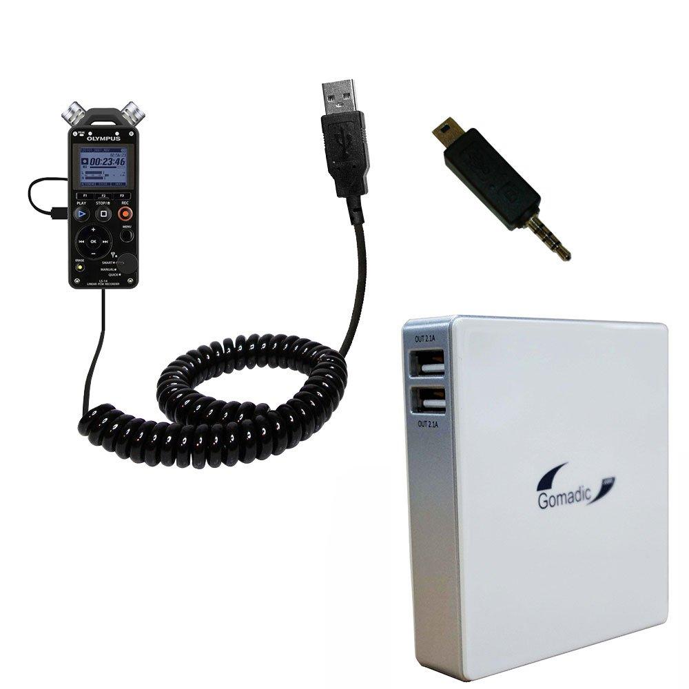 強力なリチウムポリマー充電式Gomadicブランド高容量ポータブル充電器と互換性バッテリーパックOlympus LS - 14 / ls-12 (外部電源供給) withアップグレード可能TipExchangeテクノロジー   B00V3TNZSG