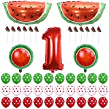 ONINIT Watermelon Theme Baby Girl Boys 1st Birthday Party Decoration Picnic Party Summer Fruit Party Decoration Photo Props