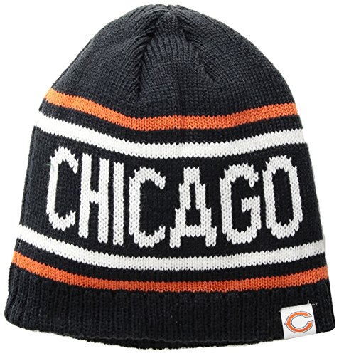 - OTS NFL Chicago Bears Thorsby Beanie Knit Cap, One Size, Navy