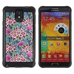 "Hypernova Defender Series TPU protection Cas Case Coque pour SAMSUNG Galaxy Note 3 III / N9000 / N9005 [Vintage fondo de pantalla Arte Pintura""]"