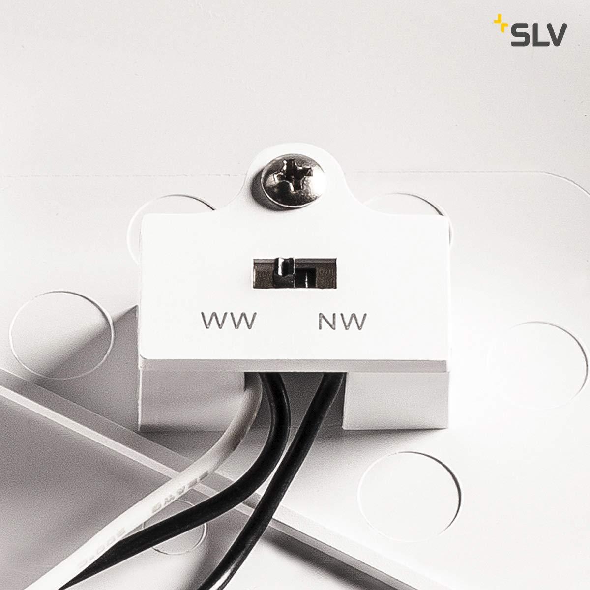 SLV RUBA 10 CW Sensor, LED Outdoor Wand- und Deckenaufbauleuchte, Deckenaufbauleuchte, Deckenaufbauleuchte, weiß IP65 3000 4000K Leuchte Kunststoff 13 W 067985