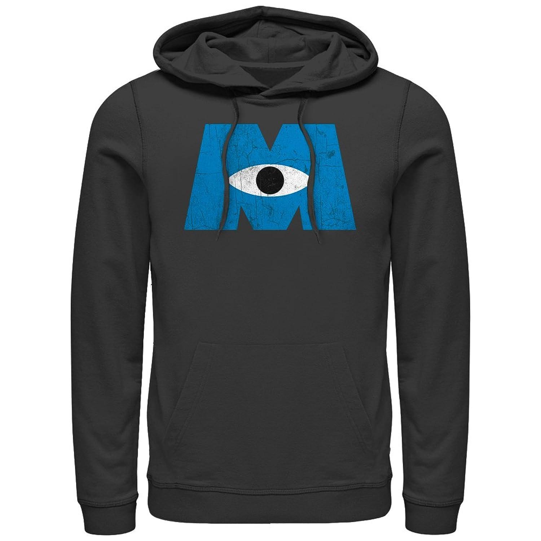 4f6cca86eb0 durable modeling Monsters Inc Eye Logo Mens Graphic Lightweight Hoodie