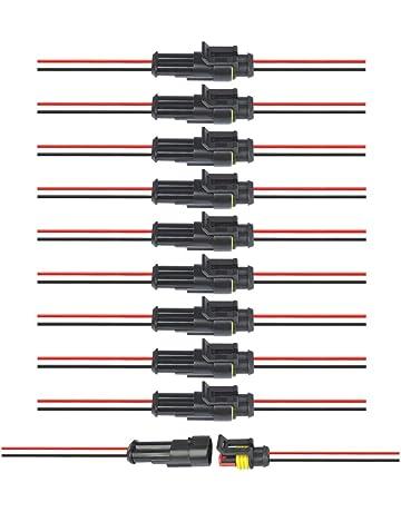 Confezione Da 2 Pezzi Connettore Singolo Diodo Cablaggio Linee di Connessione Cavi In Filo Di rame Rivestiti In Gomma 1neiSmartech Sostituzione faro Fanale maschio H1 H3 LED