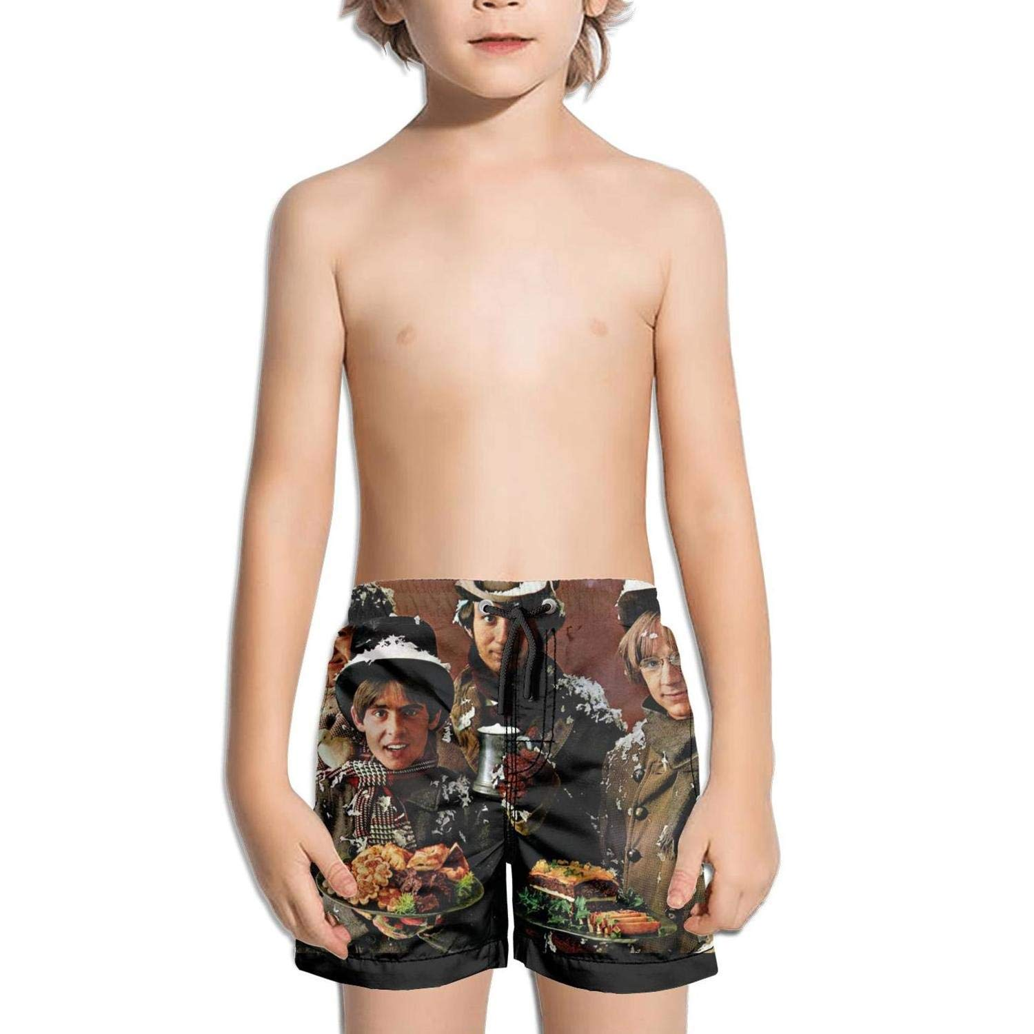 ughbhjnx Kids Solid Color Quick Dry Slim Fit Swimming Trunks Beach Shorts
