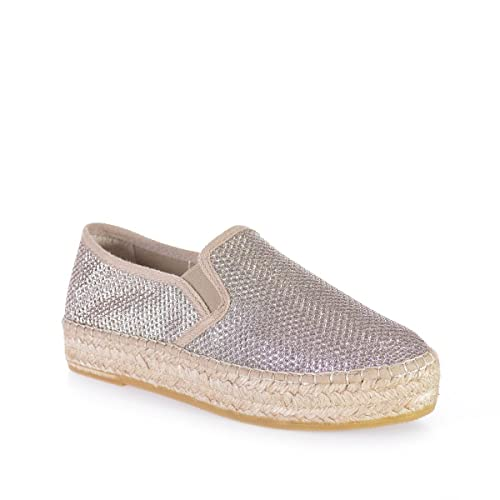 9d4caf71afdb9 Toni Pons Fonda-S - Vegan Espadrille for Woman Made in Brilliant Fabric.