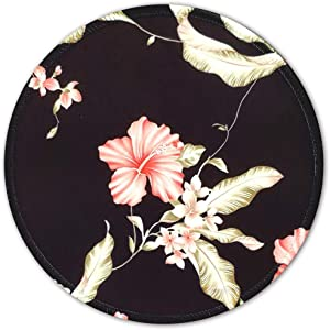 BOSOBO Mouse Pad for Women and Girls, Small Flowers Mouse Pad, Round Custom Mousepad with Design, Pretty Mouse Mat for Office Gaming Computer Laptop, Stitched Edges, Enhanced Thickness, 7.8 x 7.8 Inch