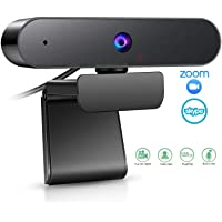 Webcam with Microphone,EAUOH HD 1080P(30fps) Streaming Webcam for Desktop Laptop/PC, Fixed Focus Web Conference Camera for Video Calling,Recording,Online Course and Gaming