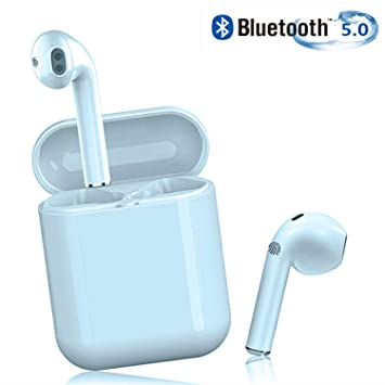 SGZSB Auriculares Bluetooth Inalámbrico, Auriculares Bluetooth 5.0 Auriculares 24H Reproducción 3D Stereo HD Cascos Inalámbricos, Binaural Call Auto ...