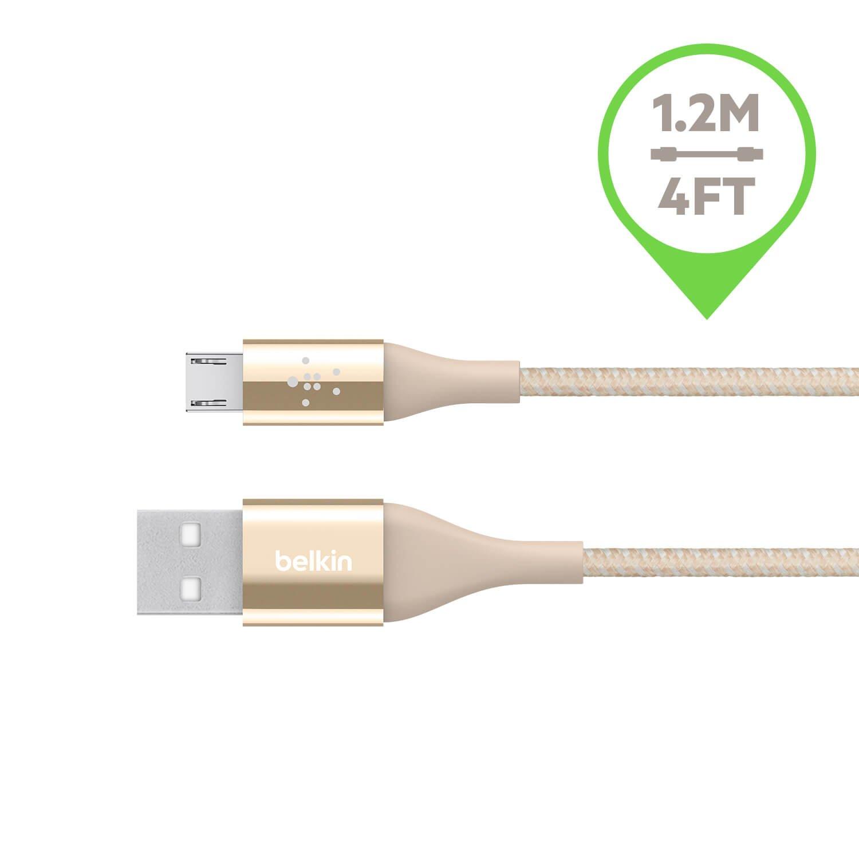 Belkin Inc 4 Feet Black Belkin MIXIT DuraTek Micro-USB to USB Cable F2CU051bt04-BLK
