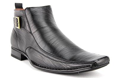 ce193bd0a12e4 Ferro Aldo Men's 606319 Ankle High Square Toe Distressed Dress Boots