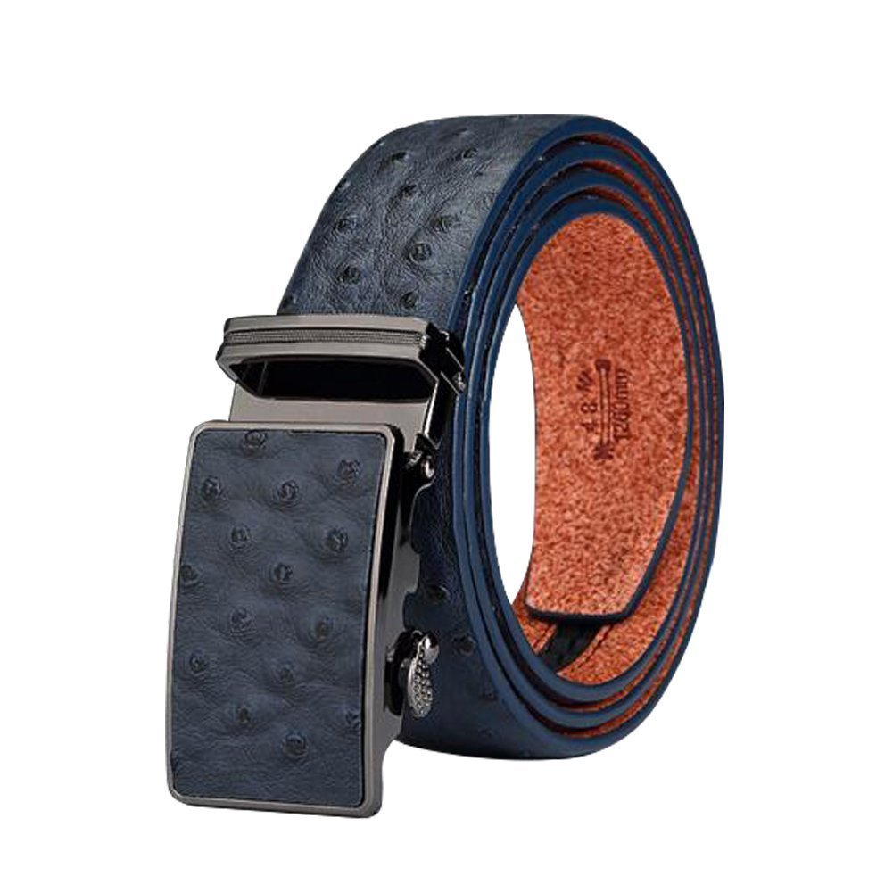Men's Belt Ratchet Leather Dress Belt with Automatic Buckle 35mm Wide 25''-45'' Father's Day Gifts