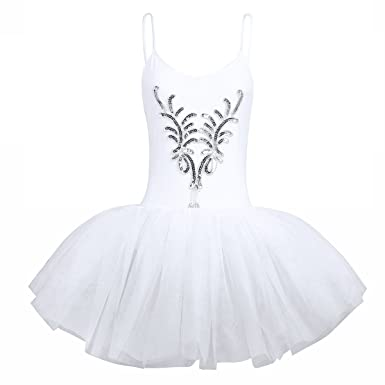 Damen Tanzkleider Ballett Tütü Ballettrock Tanzen Kostüm Trikotanzug Kleid Rock