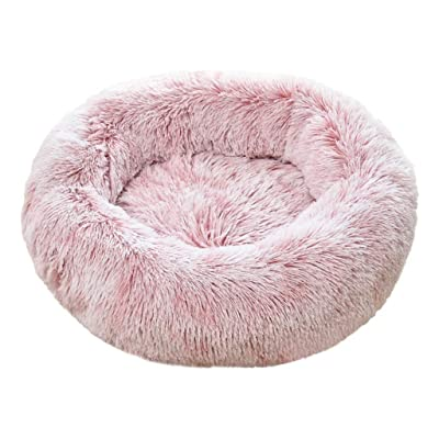 Hopwin Soft Round Pet Bed | Orthopedic Dog Cat Cushion Calming Beds Winter Self-Warming Comfortable Donut Cuddler: Clothing