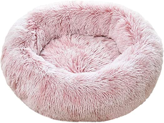 99HOME Pet Bed,Soft Plush Round Cat Dog Bed for Small Medium Large Dogs Cat Winter Dog Kennel Puppy Mat Pet Bed,Self-Warming and Improved Sleep,Orthopedic Relief Donut Cat and Dog Cushion Bed
