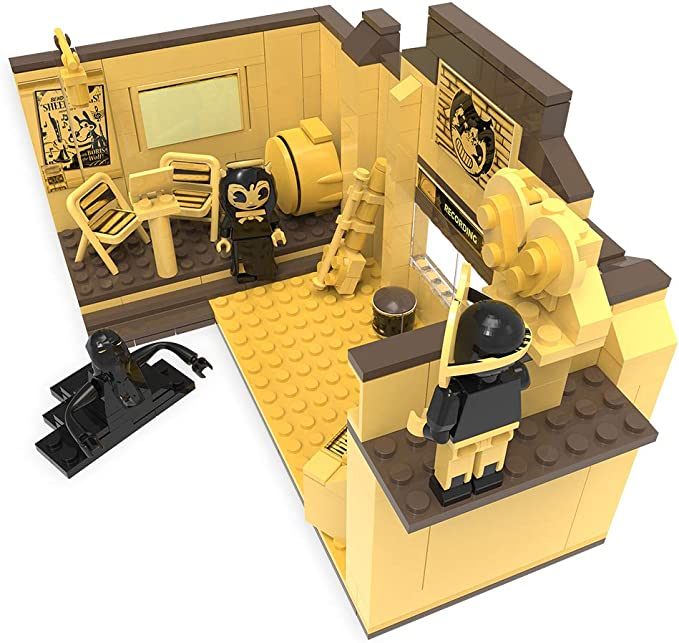 Bendy And The Ink Machine Recording Studio Buildable Construction Set 255 Pieces