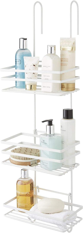 Gran Estante de Almacenamiento de Metal para Colgar 79 x 16 x 12 cm Color Blanco Direct Online Houseware Estanter/ía Colgante de 3 Niveles para Ducha Resistente al /óxido