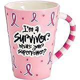 Burton and Burton I'm A Survivor, What's Your Superpower Coffee Mug, 12oz, Pink
