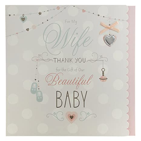 Amazon.com: Esposa gracias por nuestro bebé, nuevo bebé ...