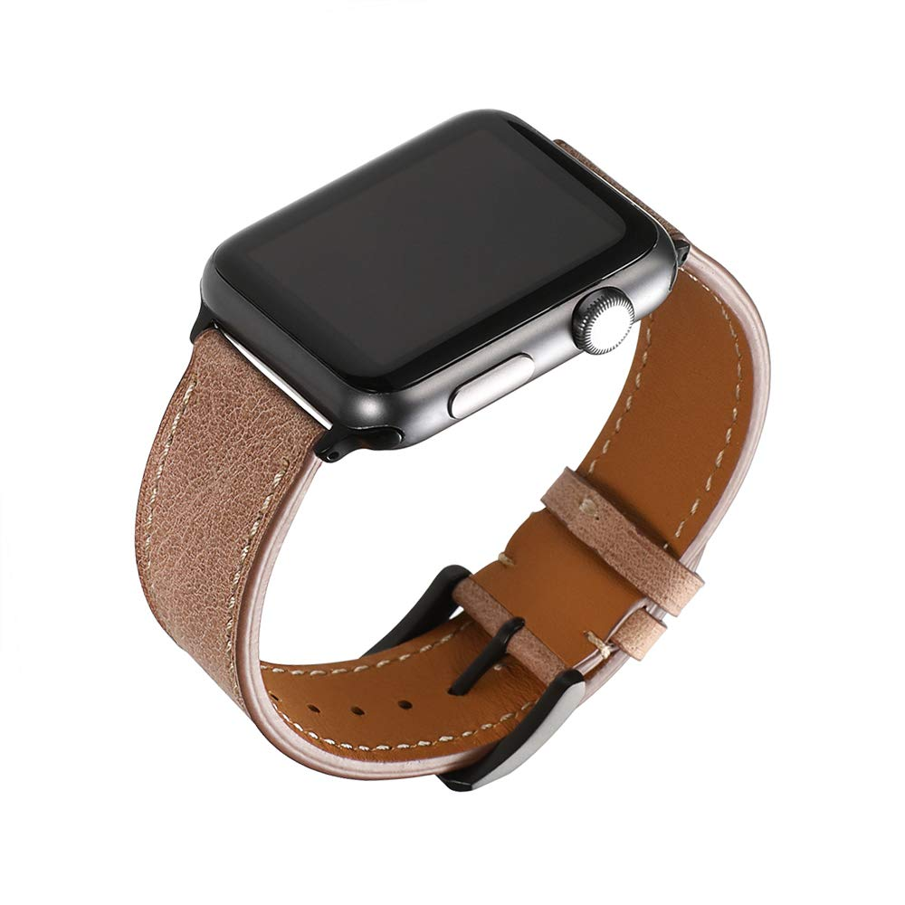 CHIMAERA Compatible Replacement for Apple Watch Band 42mm Leather Strap Series 3/2/1 Sports Edition